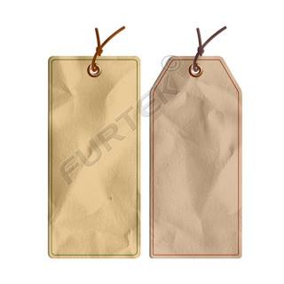 Навесная бирка из крафт-бумаги с люверсом без печати