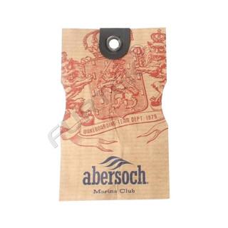 Навесная бирка из крафт-бумаги с люверсом