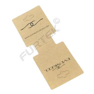 Бирка-хедер из крафт-картона с вырубным евроотверстием