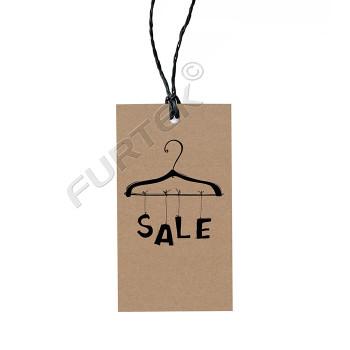 Промоярлык из крафт-картона для проведения распродаж