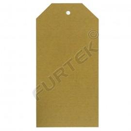 Бирка из крафт-картона со скошенными углами, плотность 290 г