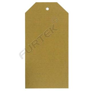 Бирка из крафт-картона 50х100 мм со скошенными углами, плотность 290 г