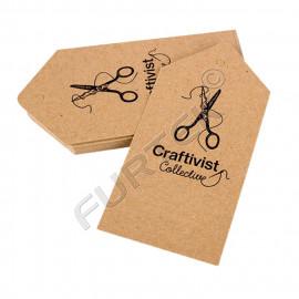 Вырубная бирка из крафт-картона с отверстием