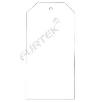 Бирка мелованная белая со скошенными углами, плотность 310 г