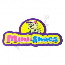 Фигурная картонная бирка для детской обуви с полноцветной печатью