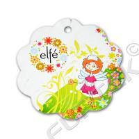 Фигурная вырубная бирка для детской одежды 65 мм