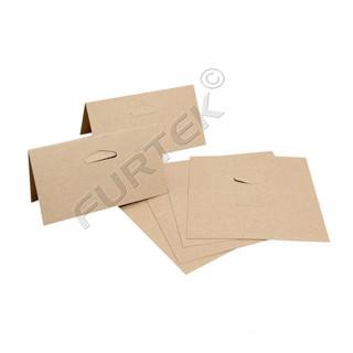 Бирка-хедер из крафт-картона с евроотверстием без печати