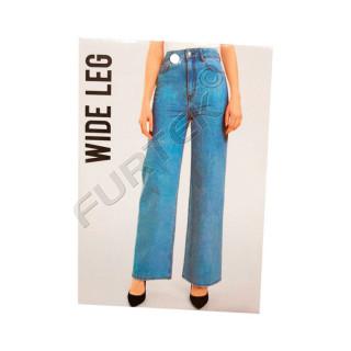 Картонная прямоугольная бирка для маркировки джинс