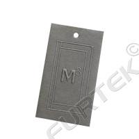 Бирка из дизайнерского картона с блинтовым тиснением 50х75 мм