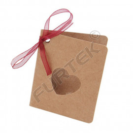 Бирка со сгибом из крафт-картона без печати
