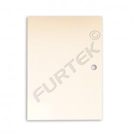 Бирка без печати из мелованного картона с отверстием для подвеса