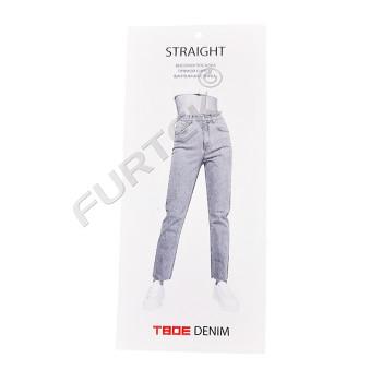 Навесная картонная бирка для джинсовой одежды