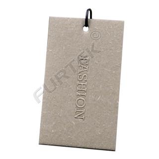 Бирки из дизайнерского картона с тиснением 50х80 мм