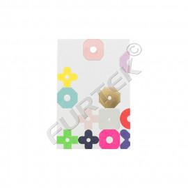 Прямоугольные бумажные бирки для маркировки детских игрушек