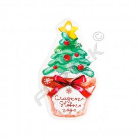 Новогодняя вырубная бирка-елочка для сладостей