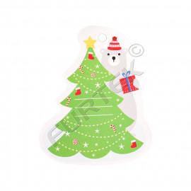Новогодняя вырубная бирка-елочка для детских подарков