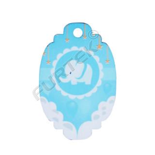Вырубная пластиковая бирка с отверстием для детских игрушек
