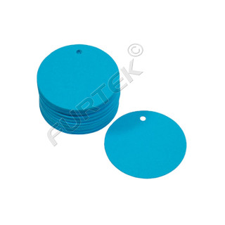 Круглые синтетические бирки навесные с отверстием на заказ
