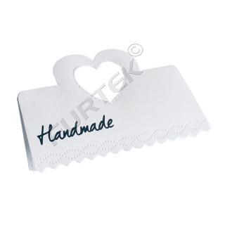 Картонная бирка-хедер для маркировки изделий ручной работы