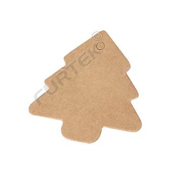 Вырубные бирки из крафт-картона Елочка без печати