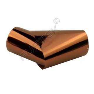 Фольга для горячего тиснения коричневая металлизированная