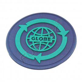 Резиновая круглая этикетка черного цвета диаметр 30 мм
