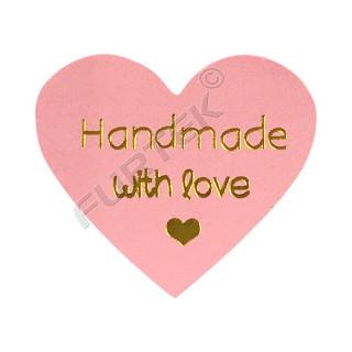 Самоклеящаяся этикетка-сердечко для маркировки изделий ручной работы