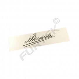 Пришивная хлопковая этикетка для маркировки одежды в нарезке