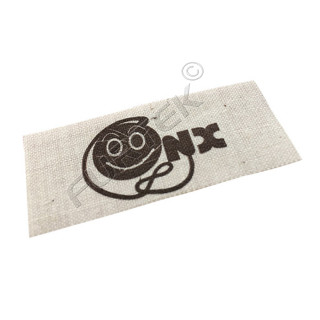 Пришивная хлопковая этикетка прямоугольная с логотипом