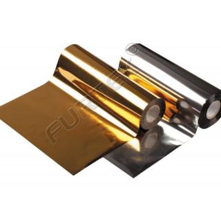 Фольга для горячего тиснения золотая яркая металлизированная