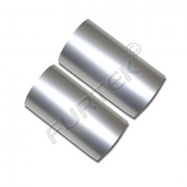 Фольга серебряная яркая металлизированная для горячего тиснения