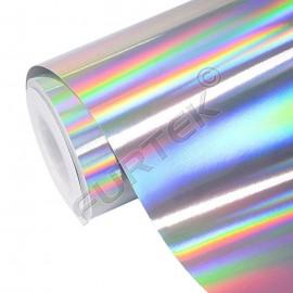 Фольга серебряная голографическая для горячего тиснения