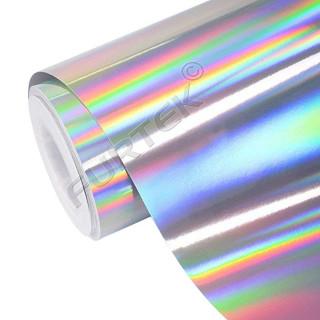Фольга для горячего тиснения серебряная голографическая