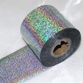 Фольга серебряная точечная голографическая для горячего тиснения