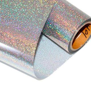 Фольга для горячего тиснения серебряная точечная голографическая