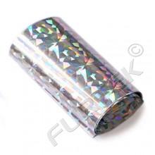 Фольга серебряная мозаичная голографическая для горячего тиснения