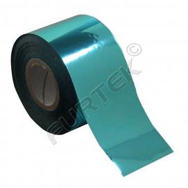 Фольга бирюзовая металлизированная  для горячего тиснения