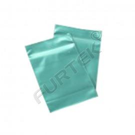 Пакет с застежкой zip-lock 4х6 см зеленый металлик