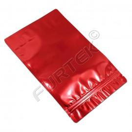 Пакет с застежкой zip-lock 60х70 мм цвета красный металлик