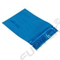 Пакет с застежкой zip-lock 60х70 мм цвета синий металлик