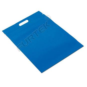 Синий пакет с застежкой zip-lock 350x350 мм с ручками