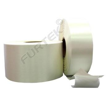 Лента сатиновая клеевая белая на толстой подложке 100 м, 200м