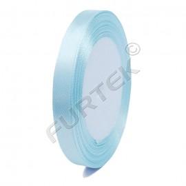 Лента атласная 10 мм голубая 100 м, премиум