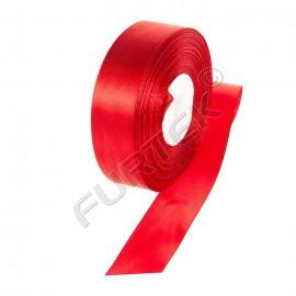 Лента атласная премиального класса 38 мм красная 100 м