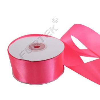 Лента из атласа премиум 25 мм розовая 100 м