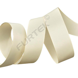 Репсовая лента 20 мм премиум кремовая 100 м
