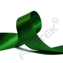 Лента сатиновая с тканым краем 12 мм зеленая 100 м, 200 м