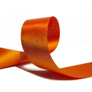 Сатиновая лента двухсторонняя оранжевая 100 м, 200 м