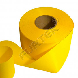Полиэстеровая лента с качественной прокраской желтая 100 м, 250 м