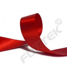 Лента сатиновая 20 мм двухстороняя с тканым краем красная 100 м, 200 м